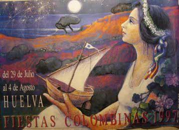 Resultado de imagen de cartel taurino  fiestas colombinas de huelva  1997